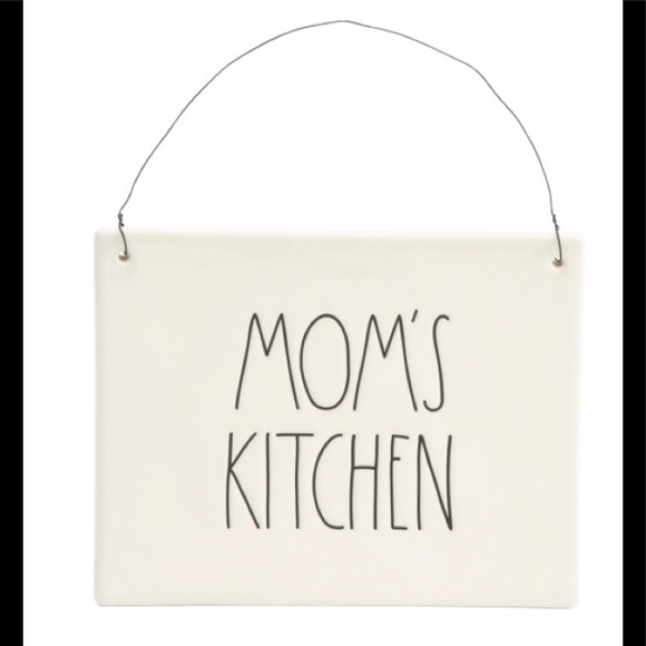 """Rae Dunn """"Mom's Kitchen"""" Wall Plaque"""